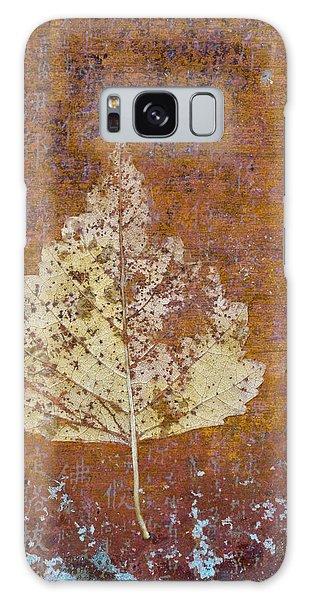 Autumn Leaf On Copper Galaxy Case