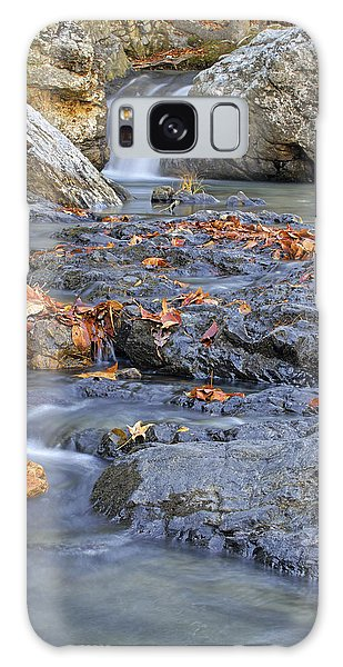 Autumn Leaves At Little Missouri Falls - Arkansas - Waterfall Galaxy Case