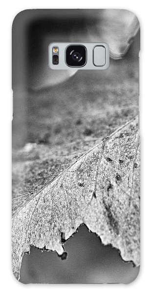 Autumn Leaves B And W Galaxy Case