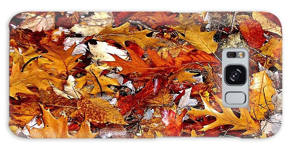 Autumn Leaves On The Ground In New Hampshire - Bright Colors Galaxy Case