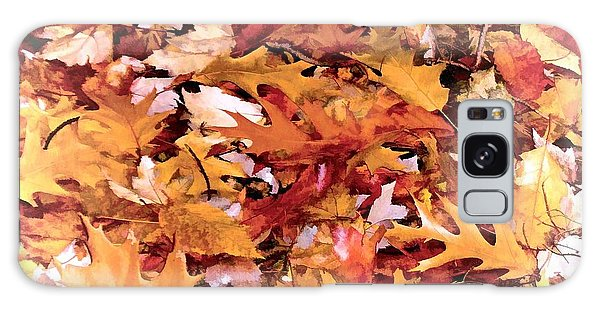 Autumn Leaves On The Ground In New Hampshire In Muted Colors Galaxy Case
