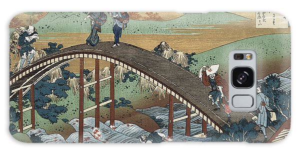 Hundred Galaxy Case - Autumn Leaves On The Tsutaya River by Katsushika Hokusai