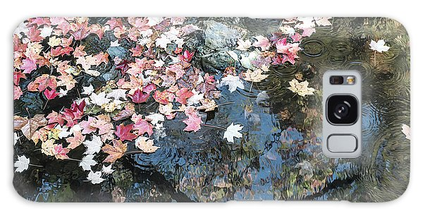 Autumn Leaves On Water Galaxy Case