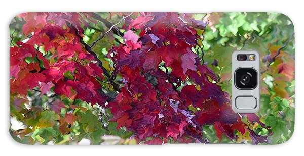 Autumn Leaves Reflections Galaxy Case