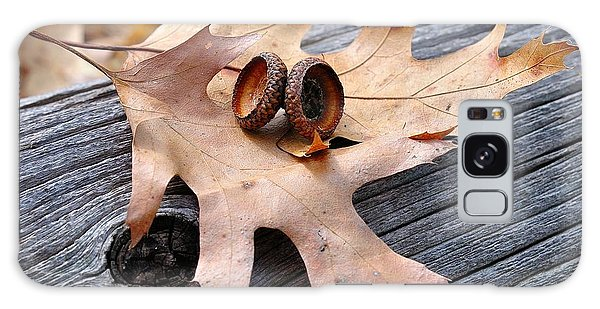Autumn Leaves With Acorn Caps 003 Galaxy Case by Todd Soderstrom