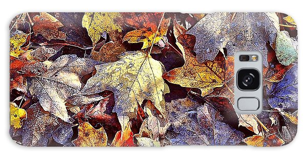 Autumn Leaves With Frost Galaxy Case