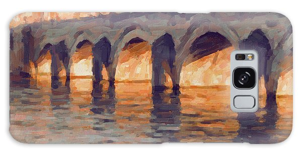Autumn Light Through The Saint Servaas Bridge Maastricht Galaxy Case by Nop Briex