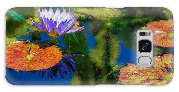Autumn Lily Pad Impressions Galaxy Case