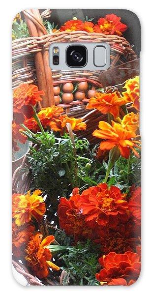Autumn Marigolds Galaxy Case
