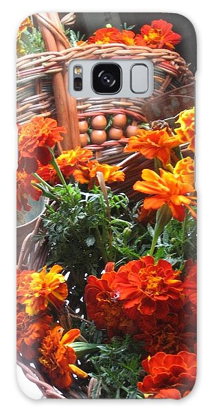 Autumn Marigolds Galaxy Case