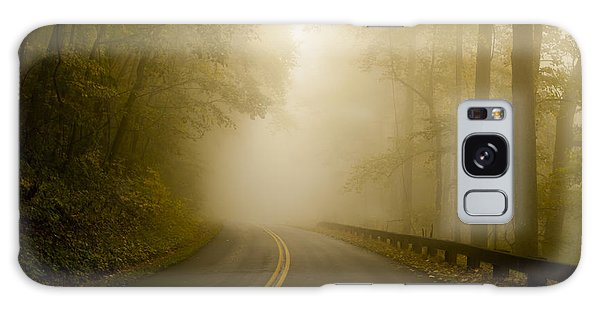 Autumn Mist Blue Ridge Parkway Galaxy Case
