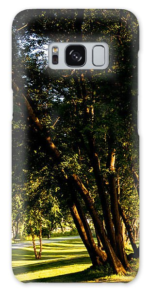 Autumn Morning Stroll Galaxy Case