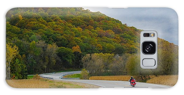 Autumn Motorcycle Rider / Orange Galaxy Case by Patti Deters