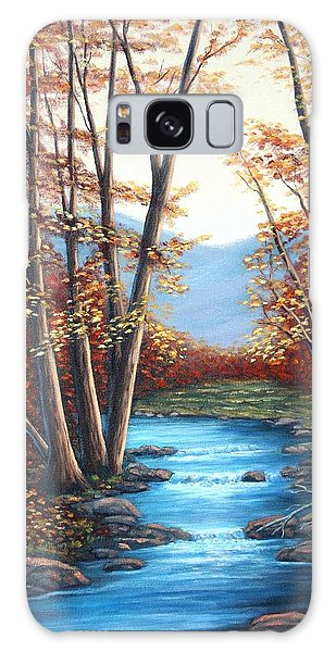 Autumn Mountain Stream  Galaxy Case