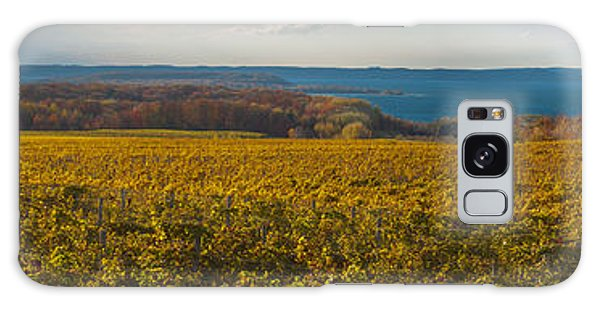 Autumn On Old Mission Peninsula Panoramic Galaxy Case