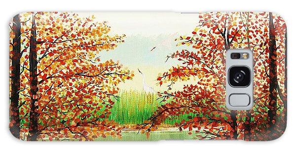 Autumn On The Ema River Estonia Galaxy Case