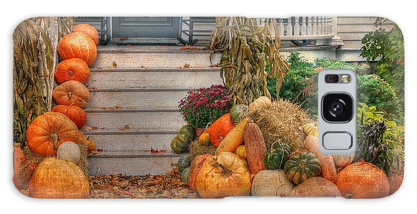 Autumn On The Porch Galaxy Case