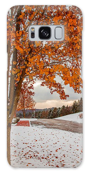 Autumn Or Winter Galaxy Case by April Reppucci
