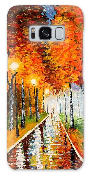 Autumn Park Night Lights Palette Knife Galaxy Case