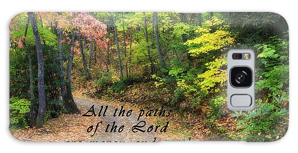 Autumn Path With Scripture Galaxy Case