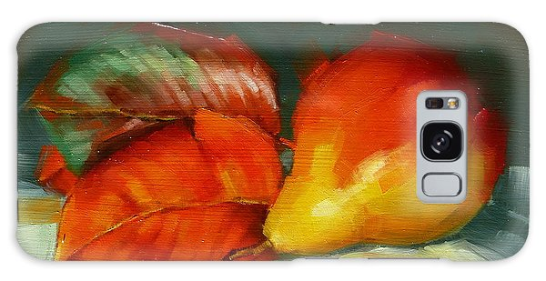 Autumn Pear Leaves And Fruit Galaxy Case by Margaret Stockdale
