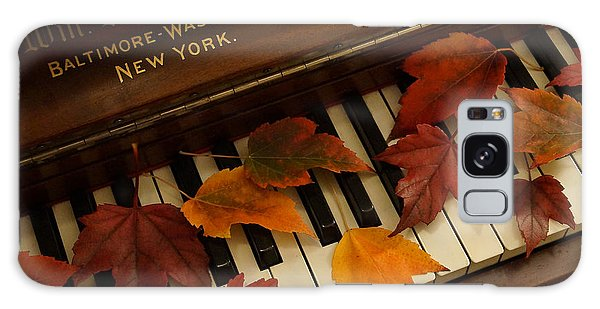 Autumn Piano 14 Galaxy Case by Mick Anderson