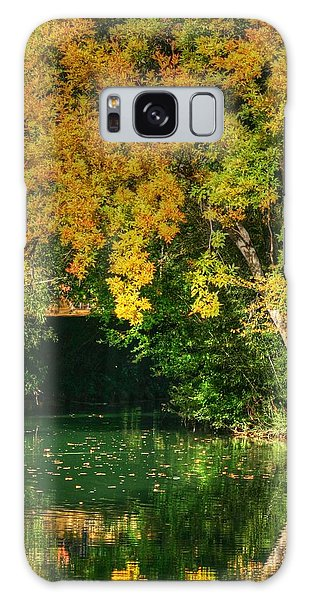Autumn Pond Galaxy Case