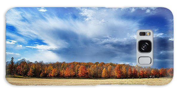 Autumn Rain Over Door County Galaxy Case