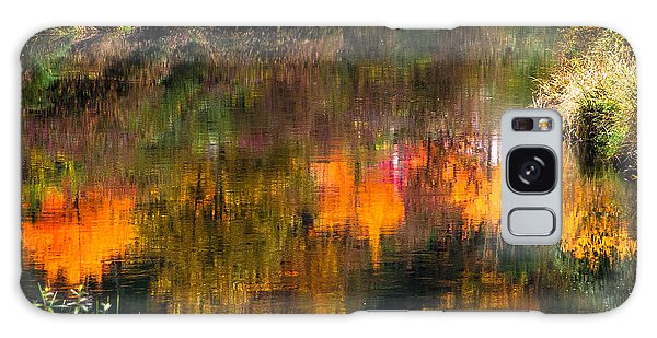 Autumn Reflection Galaxy Case by Crystal Hoeveler