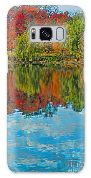 Autumn Reflection Galaxy Case by Todd Breitling