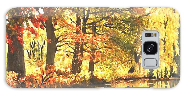 Autumn Reflections Galaxy Case by Sophia Schmierer