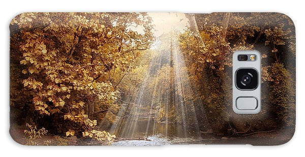 Galaxy Case featuring the photograph Autumn River Light by Jessica Jenney