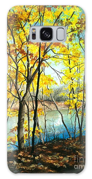 Autumn River Walk Galaxy Case by Barbara Jewell