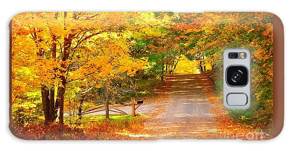 Autumn Road Home Galaxy Case