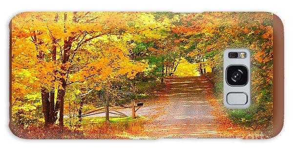 Autumn Road Home Galaxy Case
