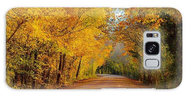 Autumn Road Galaxy Case by John Roberts