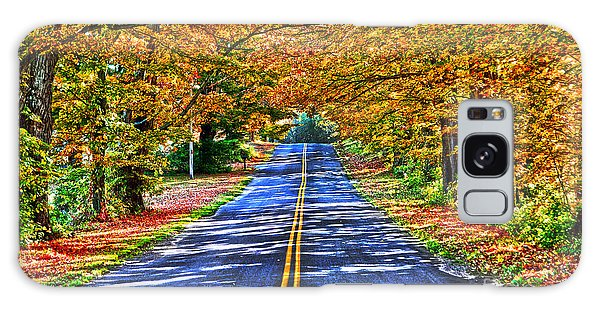 Autumn Road Oneida County Ny Galaxy Case