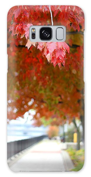 Autumn Sidewalk Galaxy Case