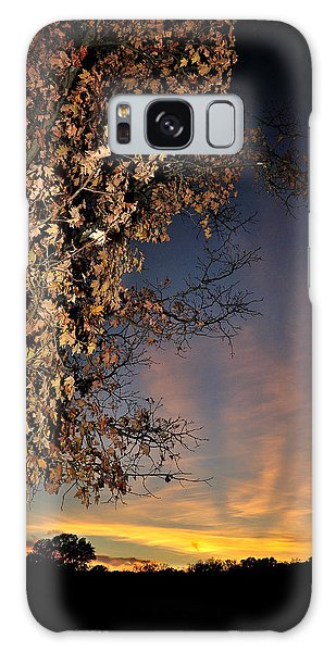 Autumn Sky And Leaves 2 Galaxy Case