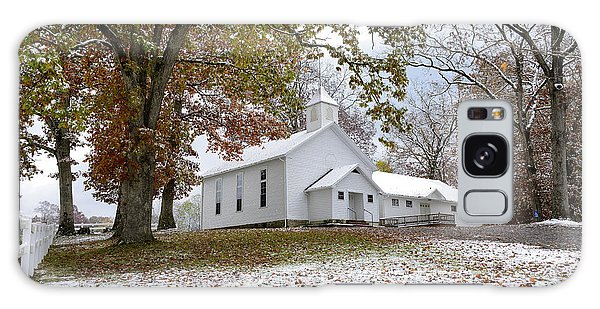 Autumn Snow And Country Church Galaxy Case