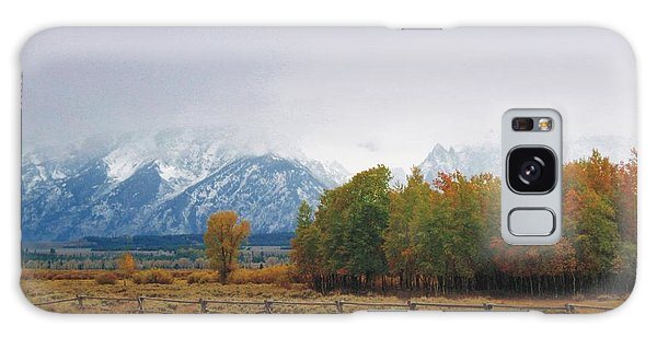 Autumn Snow In The Tetons Galaxy Case
