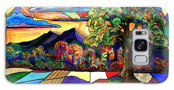 Autumn Sunrise Galaxy Case by Everett Spruill