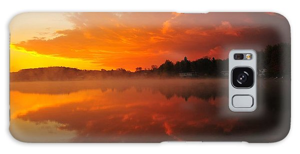 Autumn Sunrise At Stoneledge Lake Galaxy Case