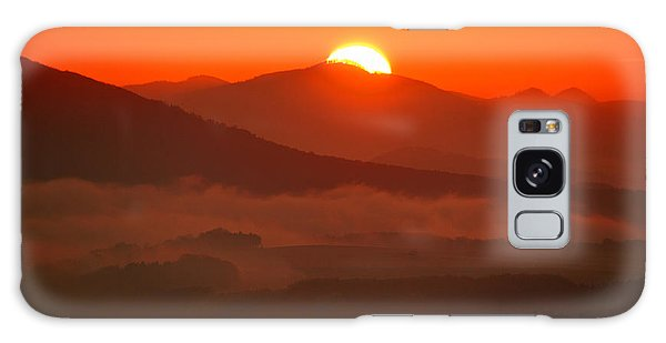 Autumn Sunrise On The Lilienstein Galaxy Case