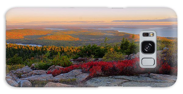 Cadillac Mountain Autumn Sunrise Galaxy Case