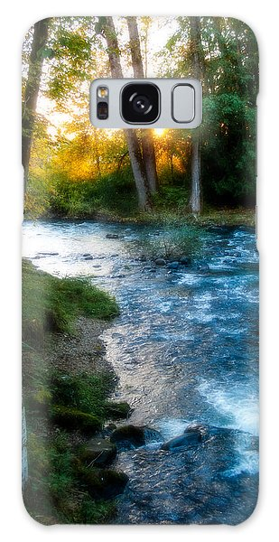 Autumn Sunset On Crabtree Creek Galaxy Case