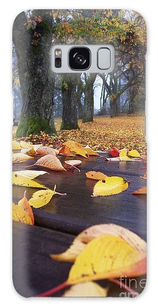 Autumn Table Galaxy Case by Maria Janicki