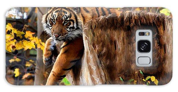 Autumn Tiger Galaxy Case by Elaine Manley
