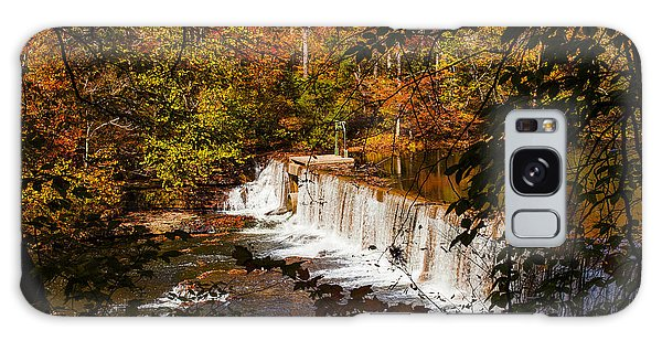 Autumn Trees On Duck River Galaxy Case