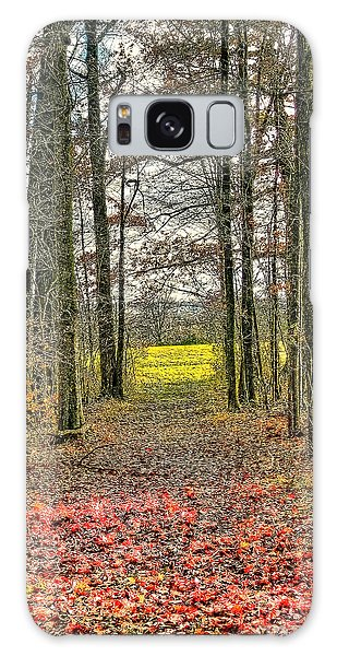 Autumn Tunnel Vision Galaxy Case by Jim Lepard